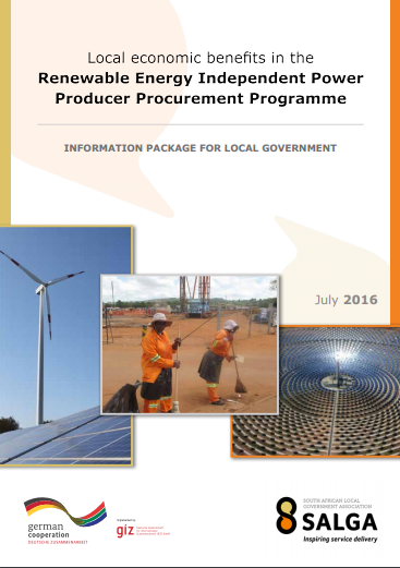 Local economic benefits in the renewable energy independent power producers programme – an information package for local government