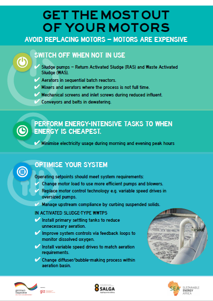 Energy Savings Guide for Motor Driven Systems in Municipal Waste Water Treatment Plant Poster