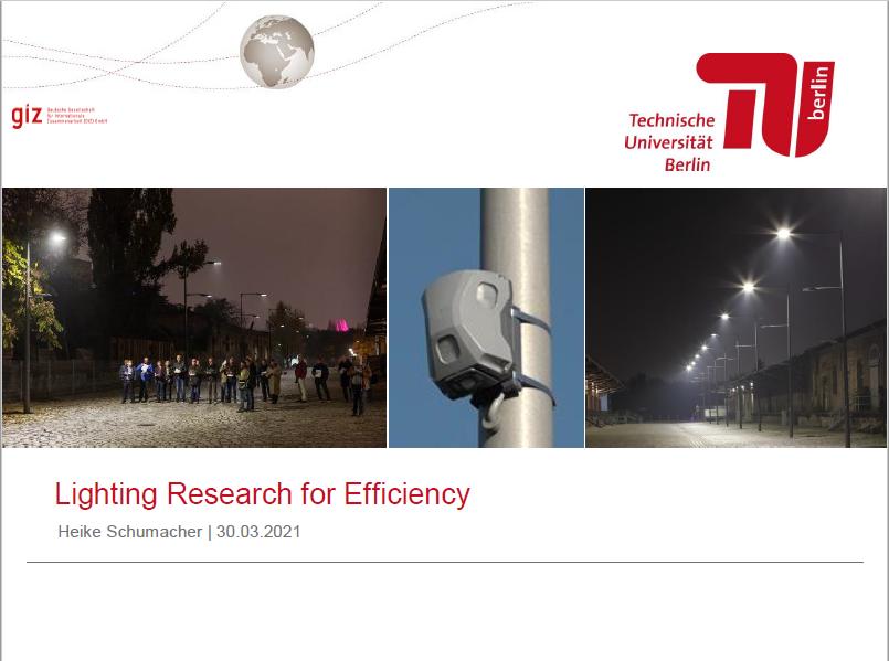 LED Walkway Webinar: Technical University of Berlin Presentation