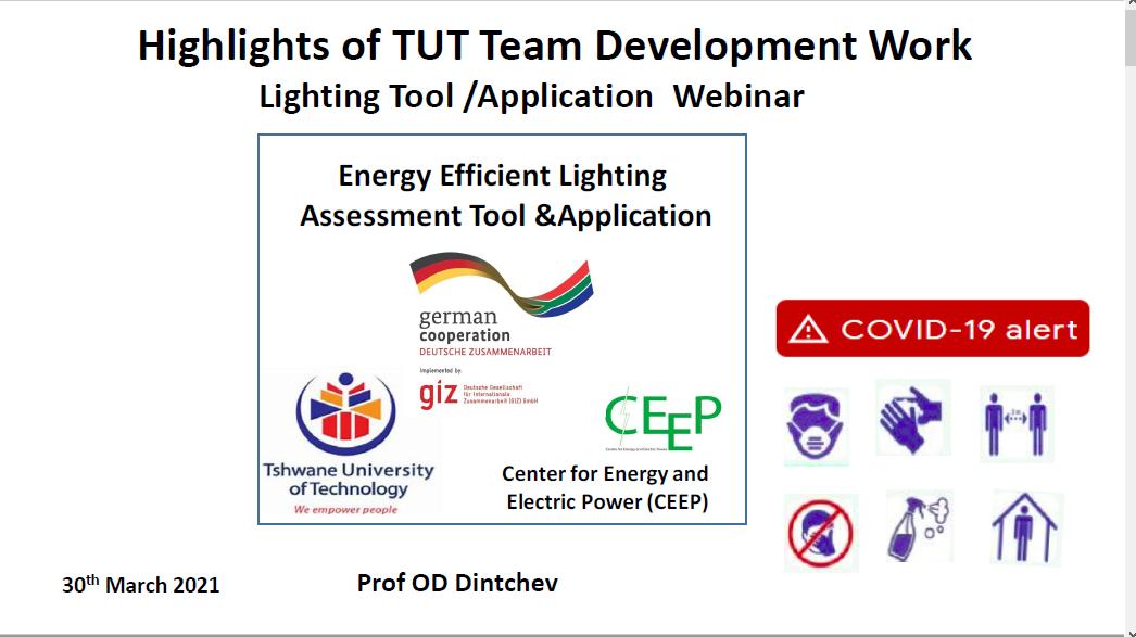 LED Walkway Webinar:  TUT presentation