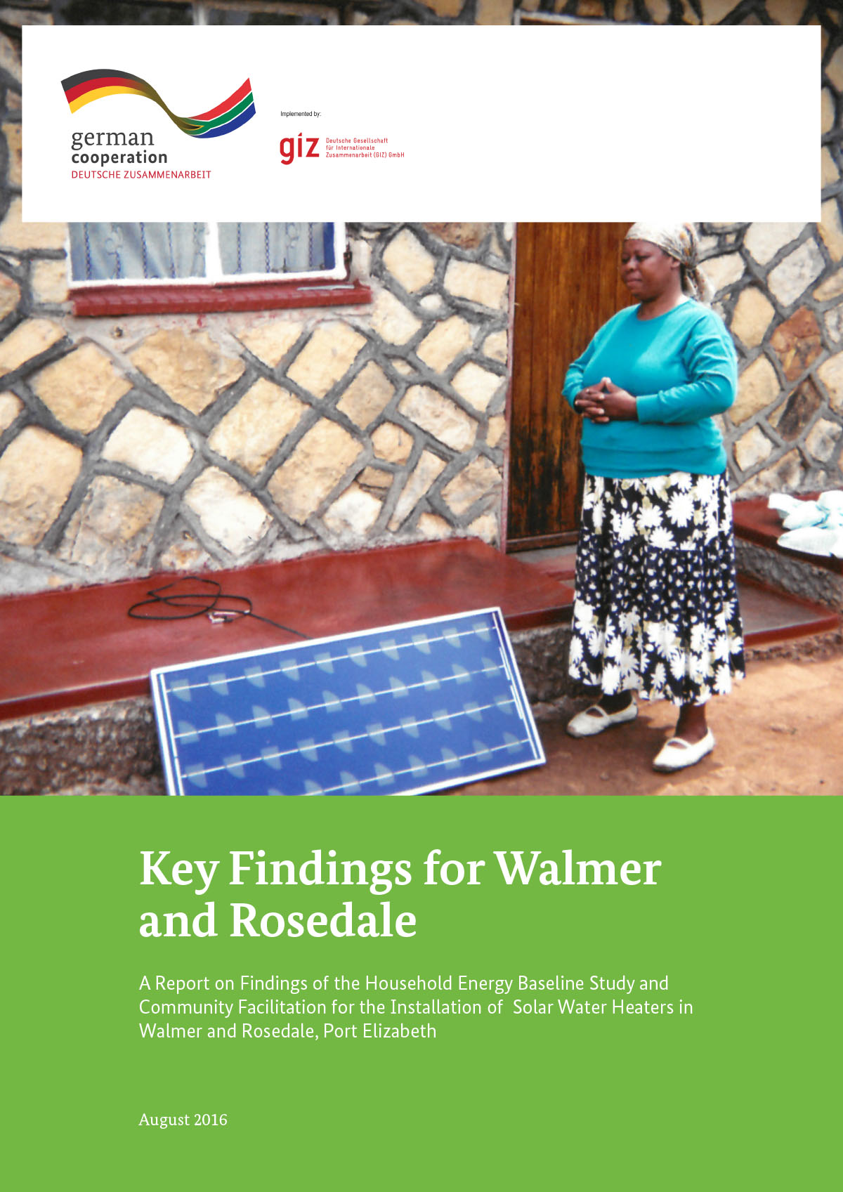 Household Energy Baseline Study and Community Facilitation for the Installation of Solar Water Heaters in Walmer and Rosedale, Port Elizabeth